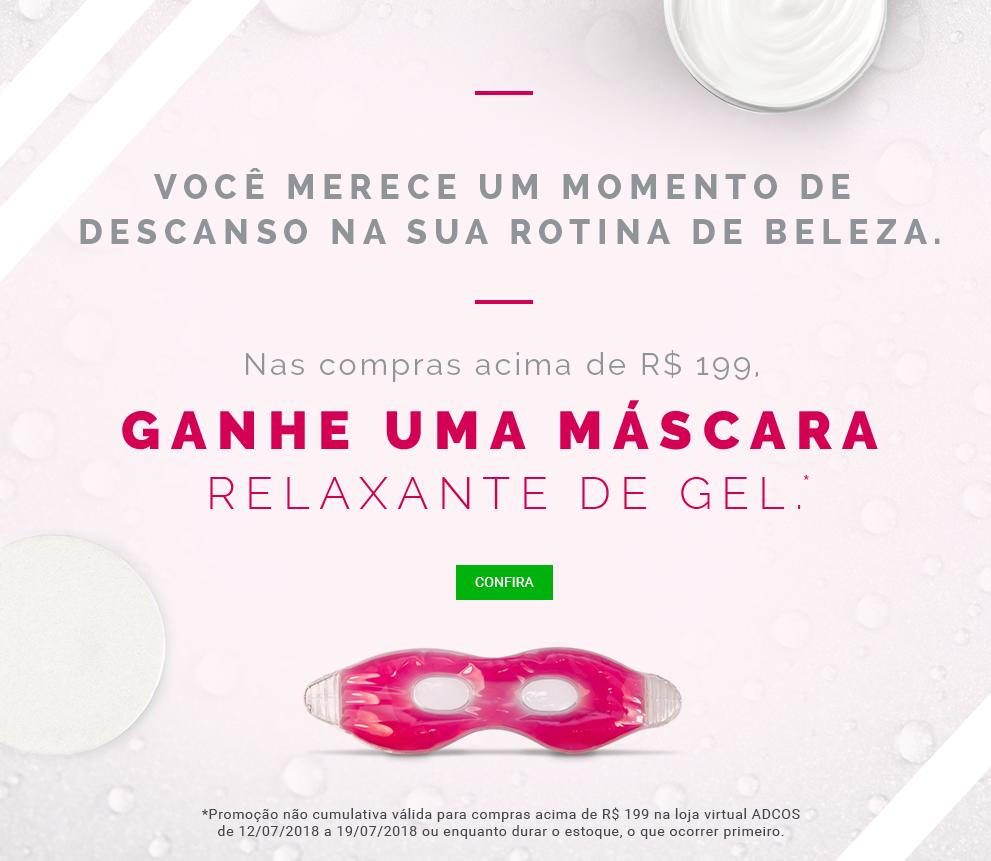 Máscara de Gel Rosa acima de 199